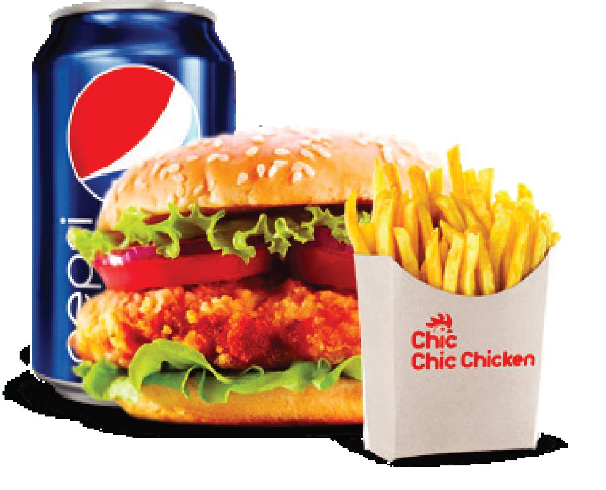 Burger Combo - Chic Chic Crispy